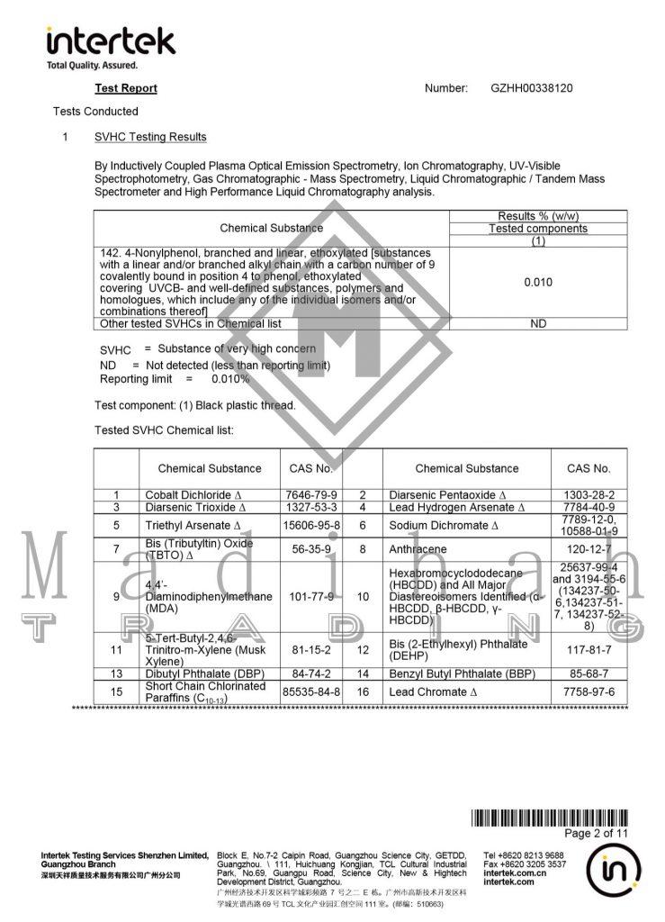 Madihah Lashes intertek test report page2.