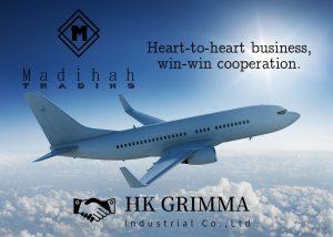 Madihah Trading global shipment by air.