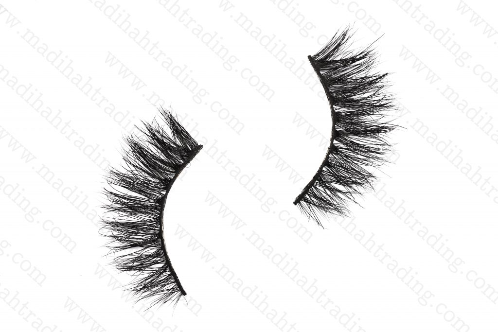Madihah 3d reusable mink fur eyelashes 3D-21 wholesale.
