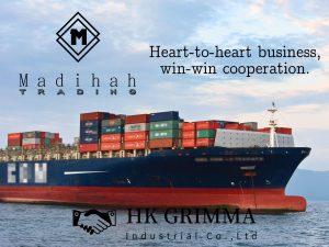 Madihah Trading global shipment by sea.