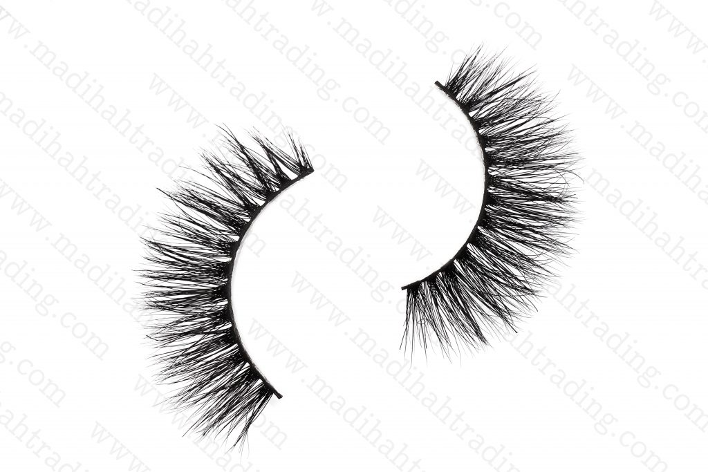 Madihah 13mm real mink fur eyelashes 3D-06 details 1.