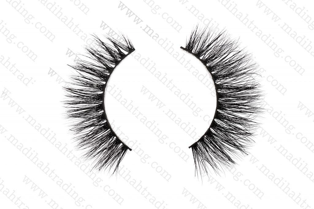 Madihah 13mm real mink fur eyelashes 3D-06 details 2.