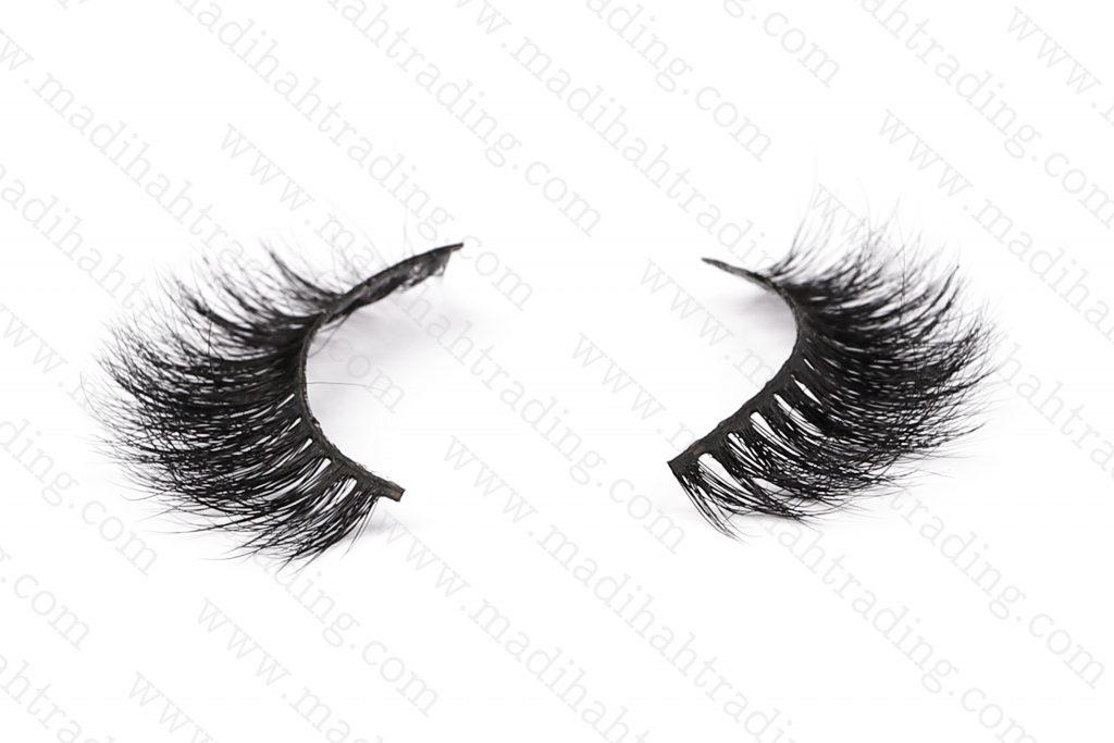 Madihah 13mm real mink fur eyelashes 3D-06 details 3.