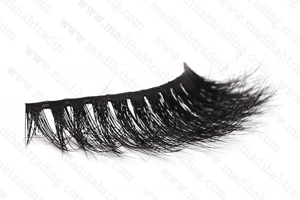 Madihah 13mm real mink fur eyelashes 3D-06 details 4.
