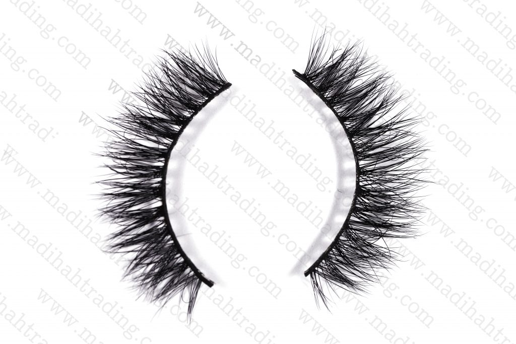 Madihah 12mm real mink fur eyelashes 3D-07 details 2.