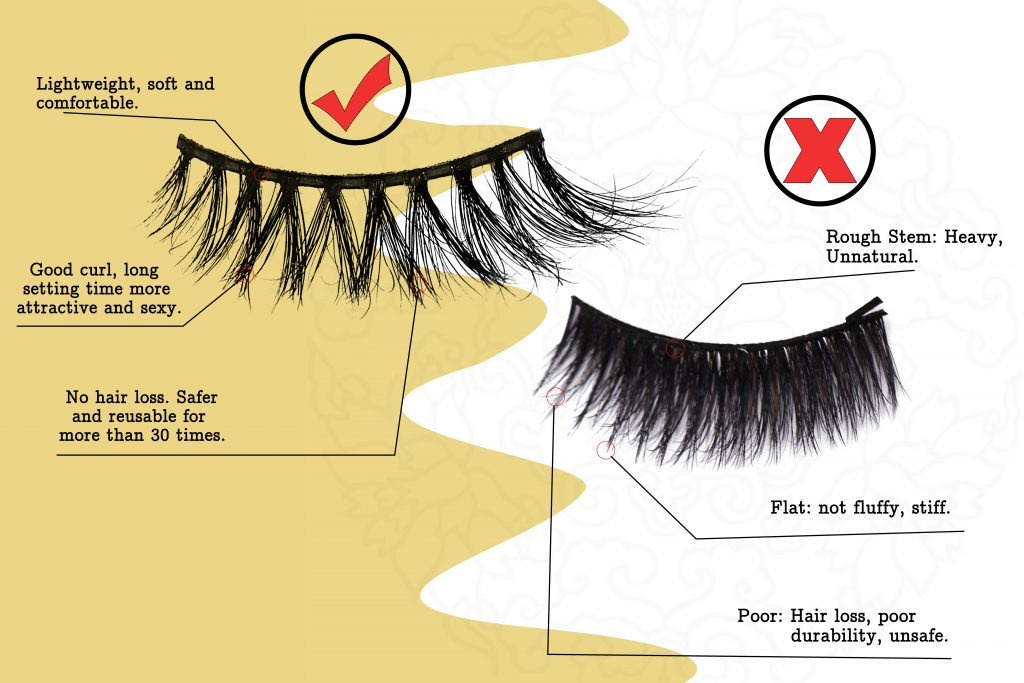 real siberian mink fur lashes cruelty-free from Madihah Trading.