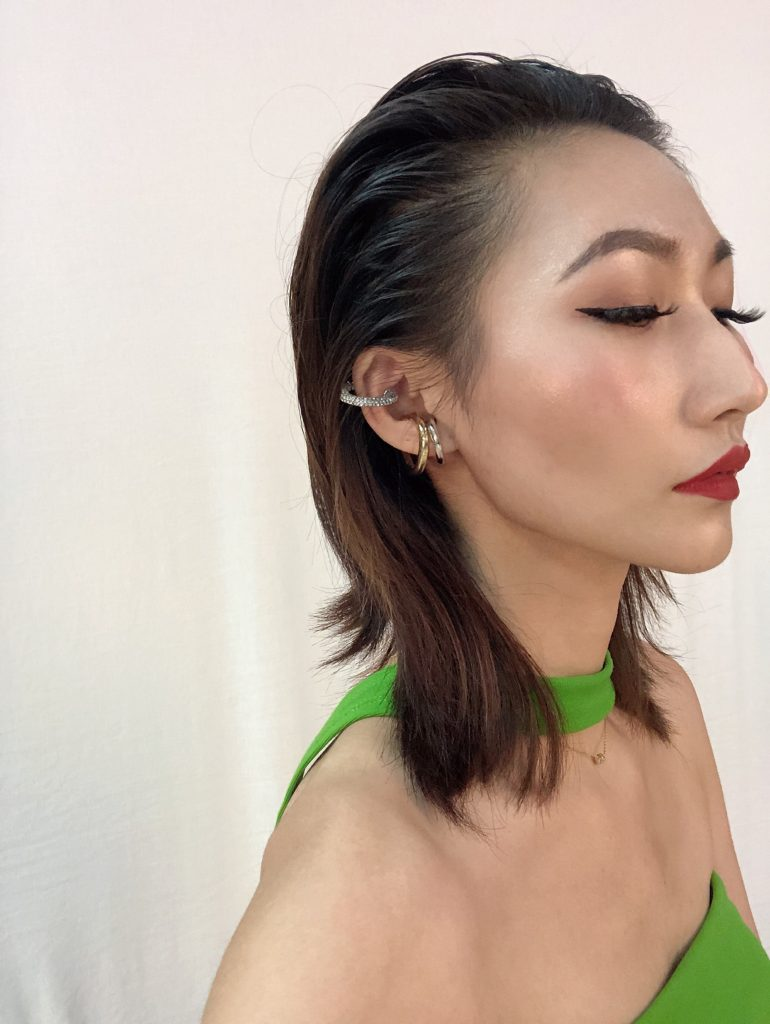 Madihah mink 3d lashes try on by Kim Lee.