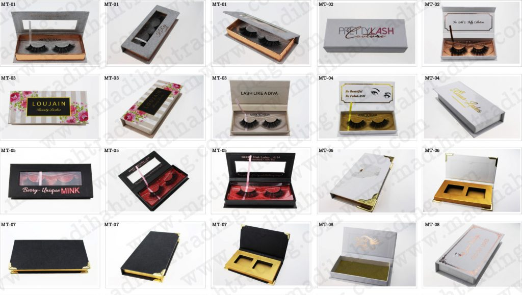 Madihah Trading wholesale custom eyelash packaging box to siberian mink lashes aliexpress seller.