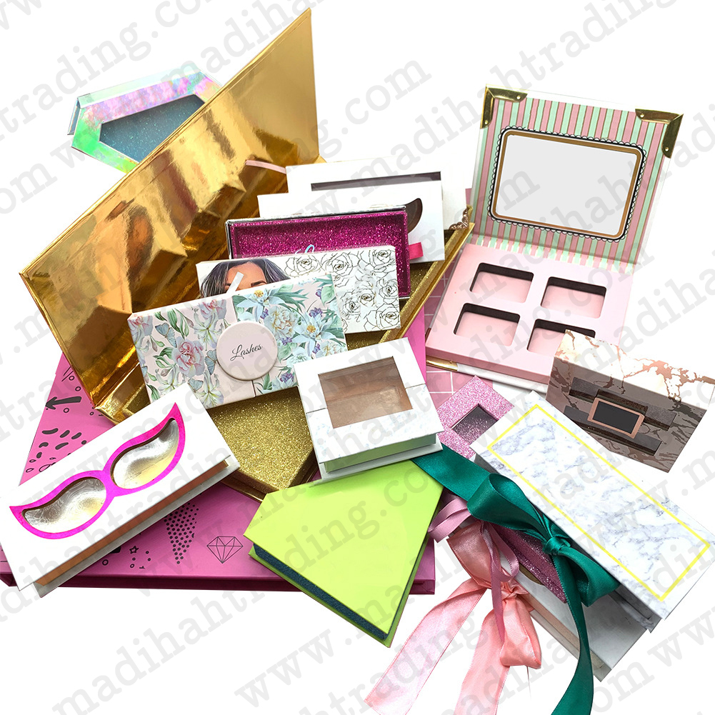 Madihah Trading wholesale 3d mink eyelashes packaging.