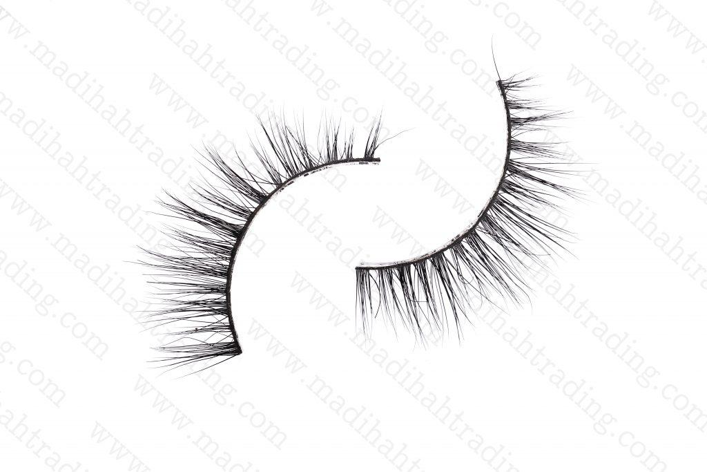 Madihah best 3d mink fur eyelashes 3D-13 details 1.