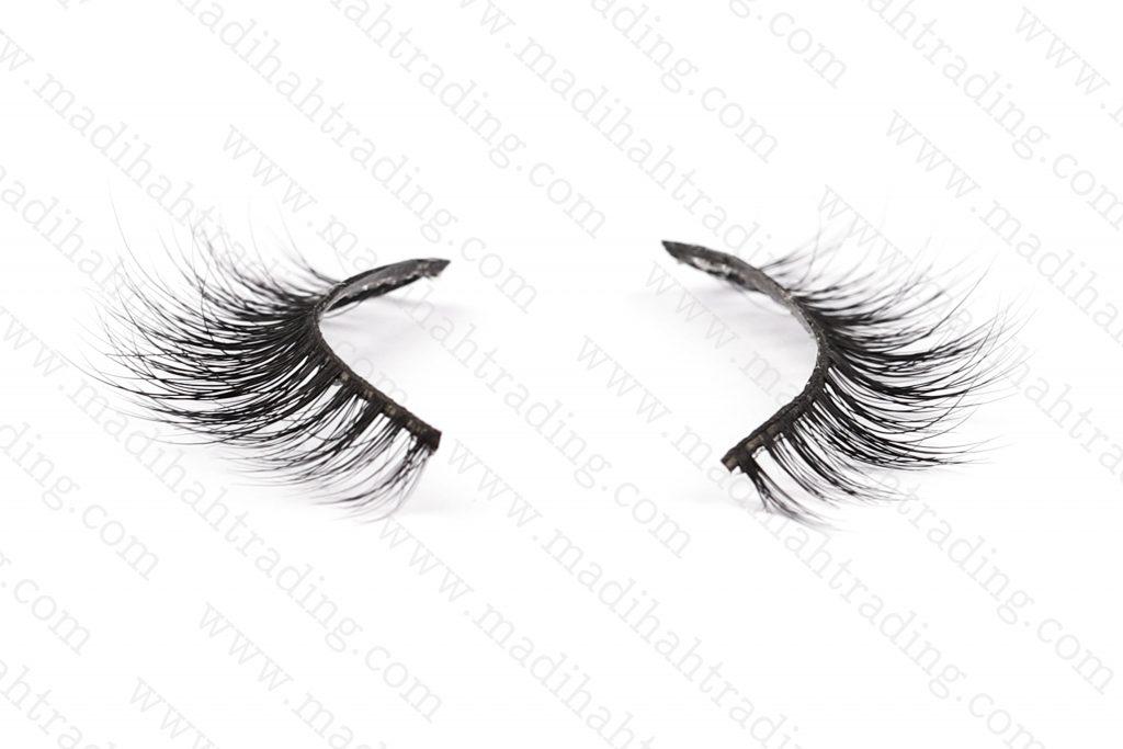 Madihah best 3d mink fur eyelashes 3D-13 details 3.