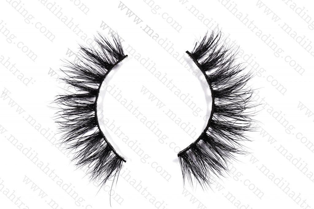 Madihah 3d real mink fur eyelashes 3D-14 details 2.