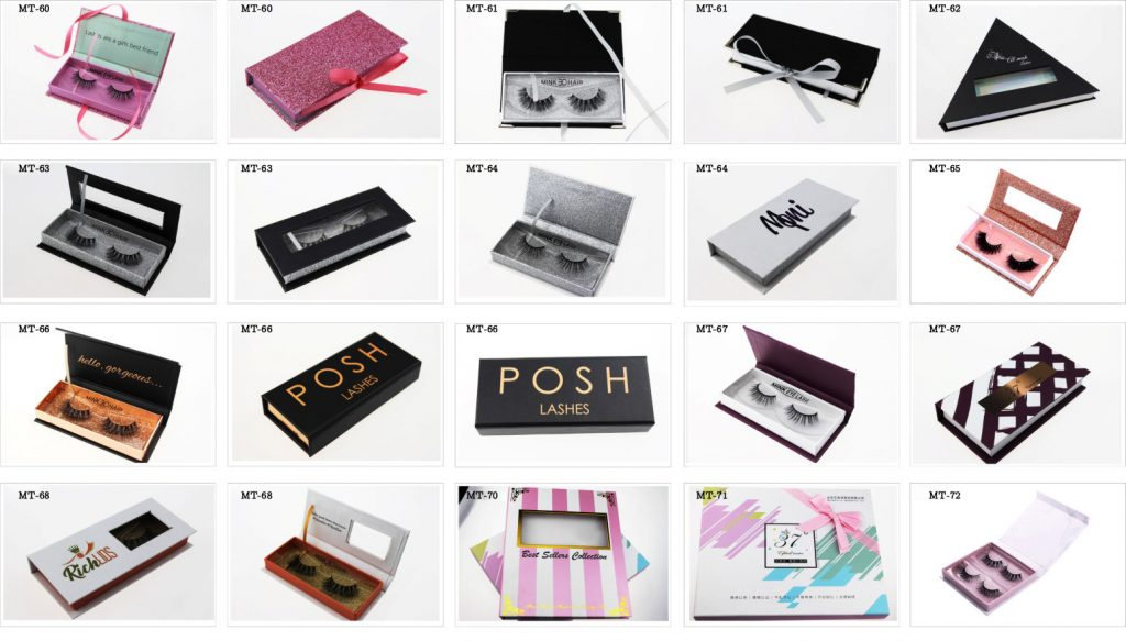 Madihah eyelashes boxes for sale in china.
