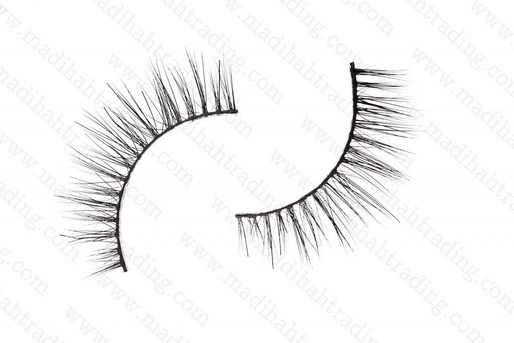 Madihah Trading mink lashes try on 3d hair eyelashes.