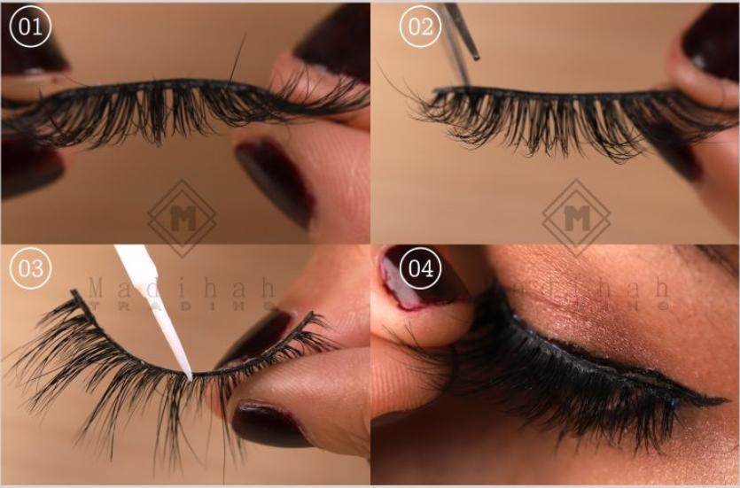 Madihah reusable china horse hair mink fur lashes.