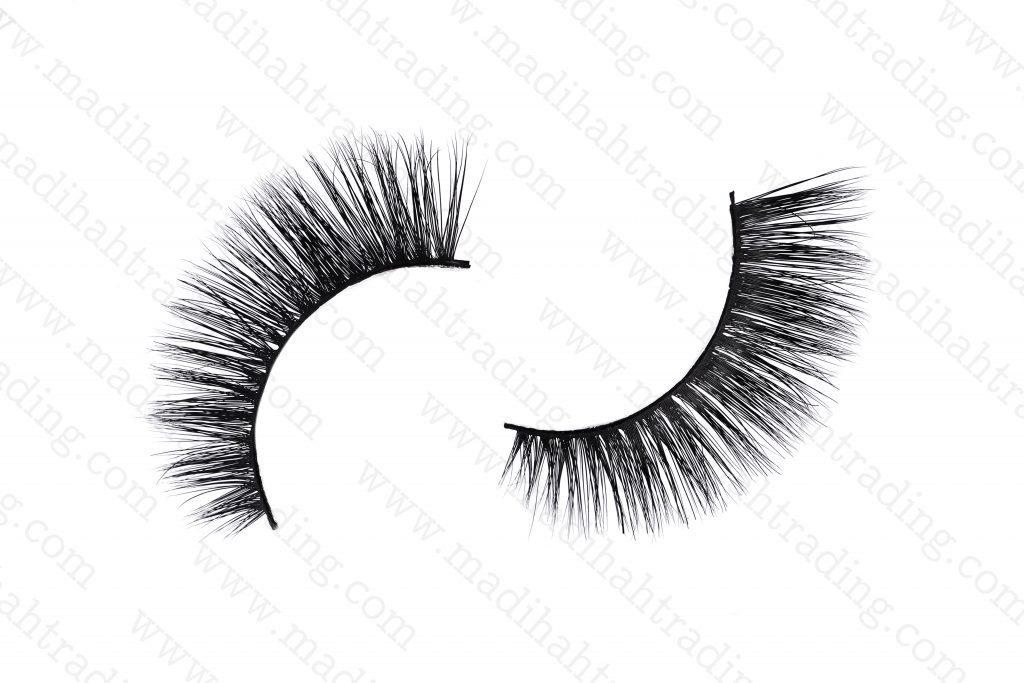 Madihah siberian mink fur strip eyelashes wholesal in china.