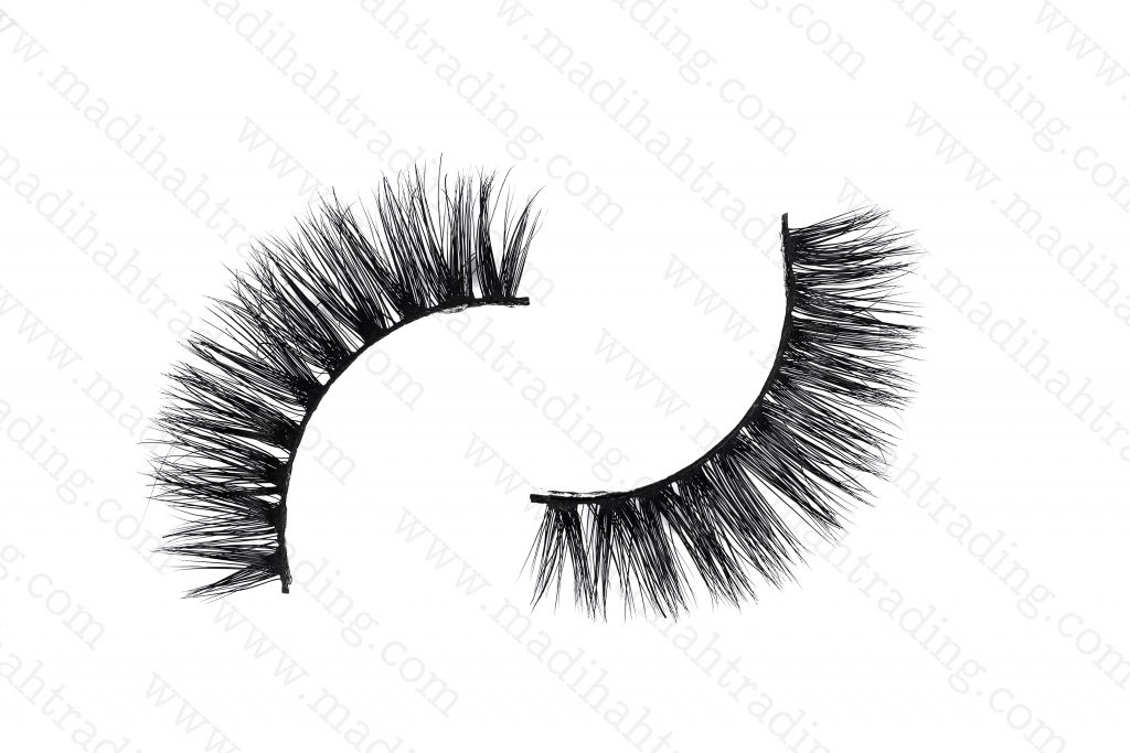 Madihah siberian mink 3d hair lashes wholesale in china.
