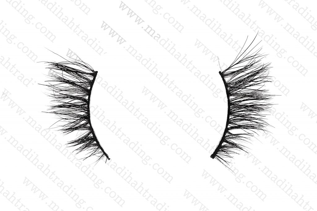 Madihah 10mm horse hair lashes AN26 details2.