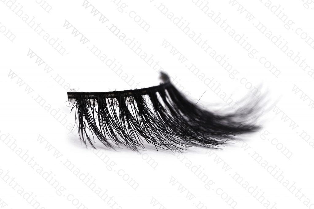 Madihah horse hair real mink lashes individuals.