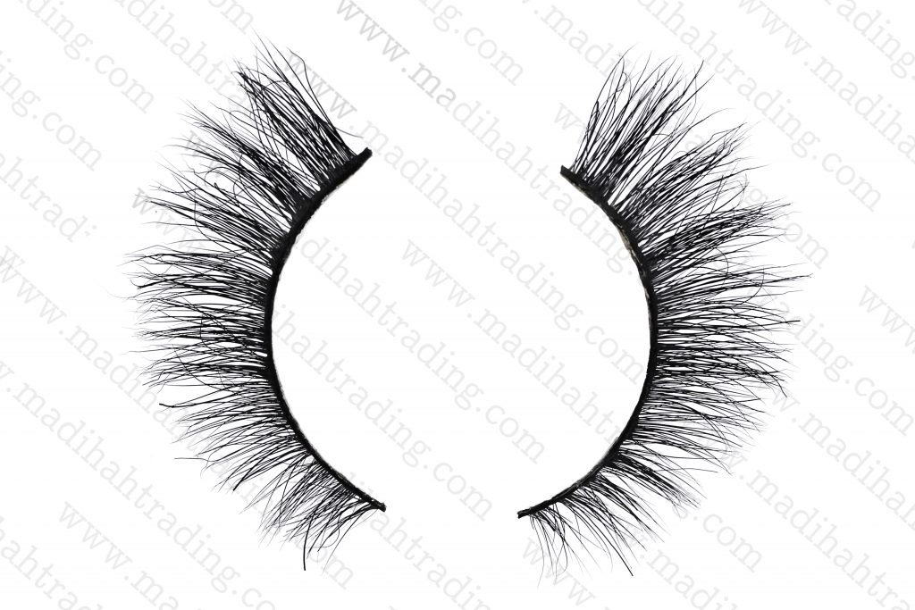 Madihah siberian mink strip eyelashes 3d mink lashes wholesale in china.