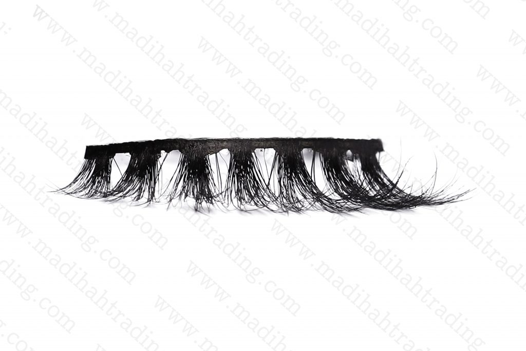 Madihah 5d mink strip lashes wholesale in china.