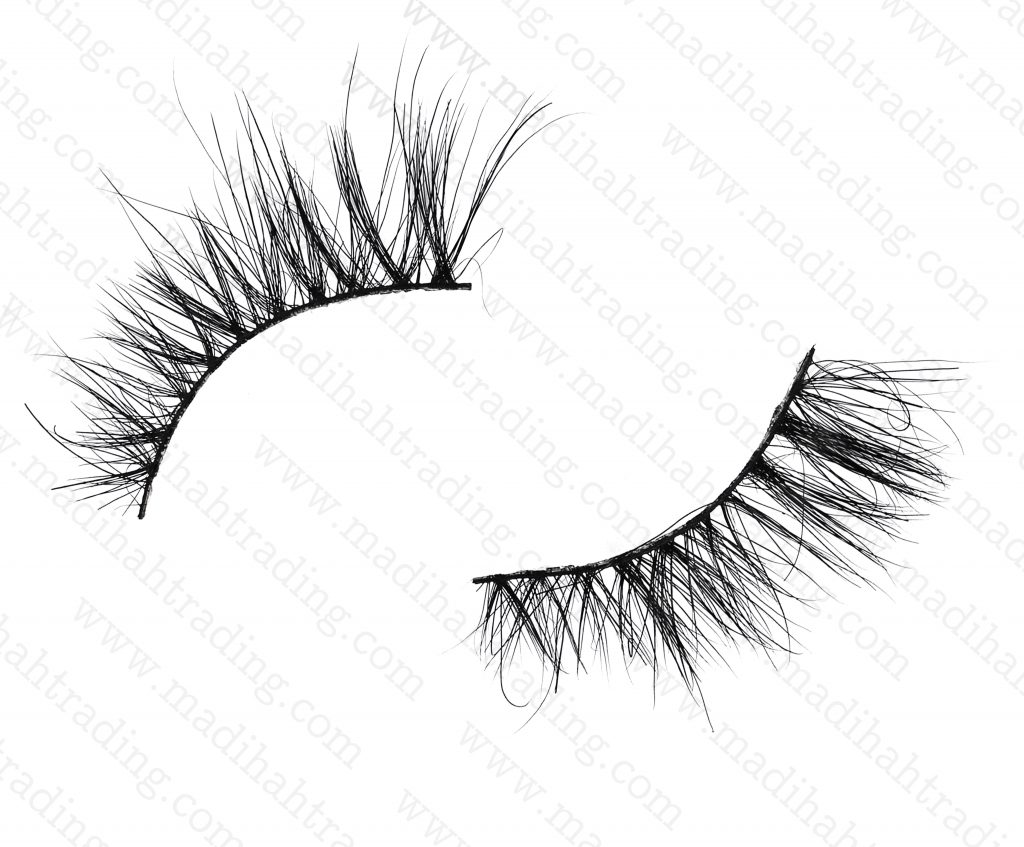 Madihah Trading 13mm cruelty free horse tail eyelashes YX18 mink lashes manufacturer in china.