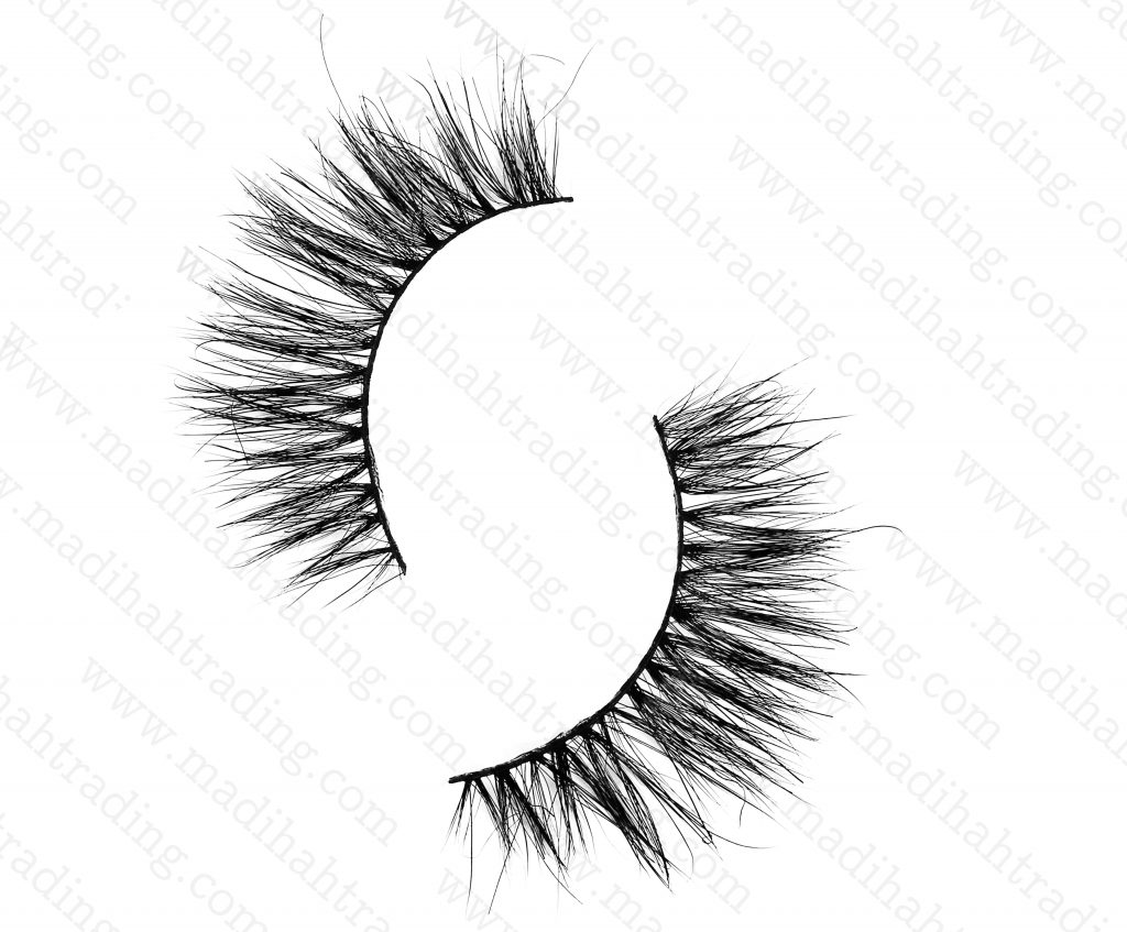 Madihah Trading 14mm cruelty free horse tail eyelashes YX19 mink lashes manufacturer in china.