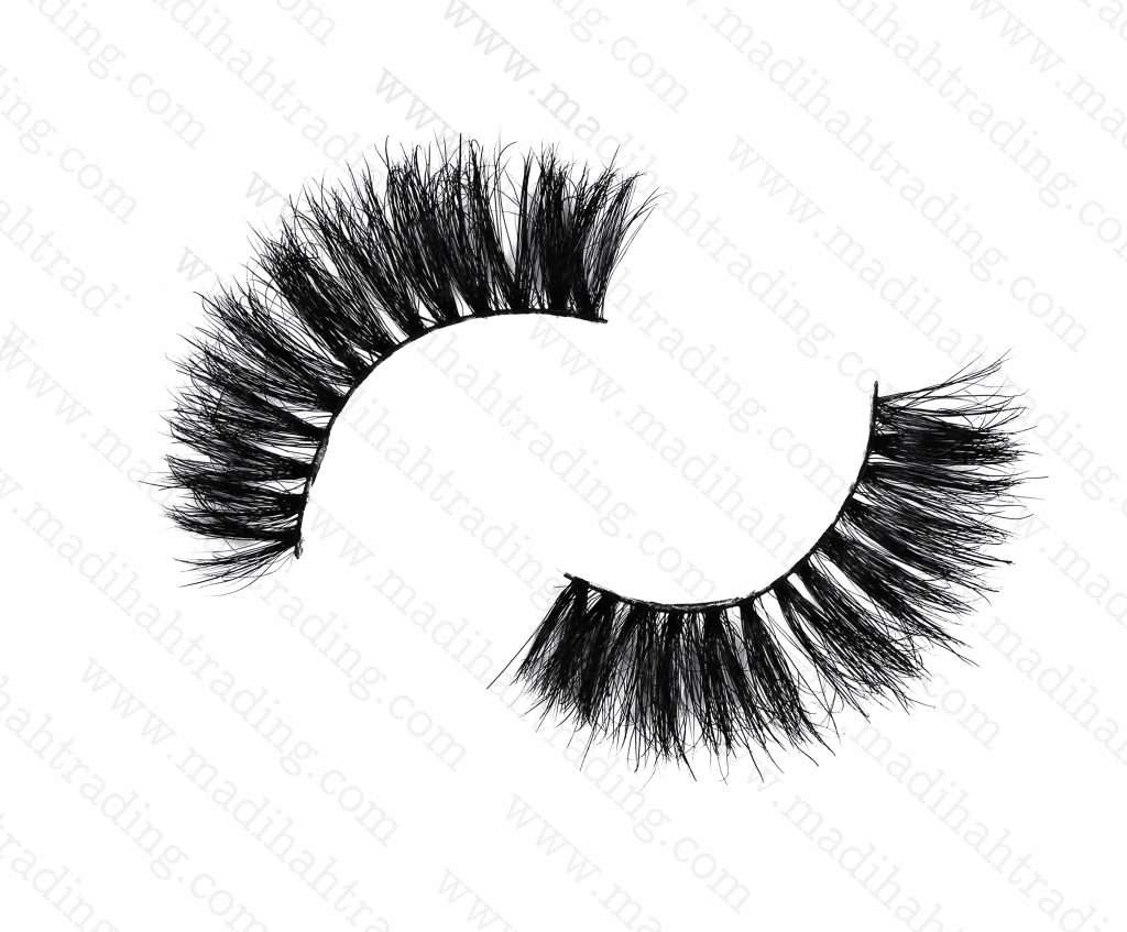 Madihah Trading 14mm cruelty free horse tail eyelashes YX20 mink lashes manufacturer in china.