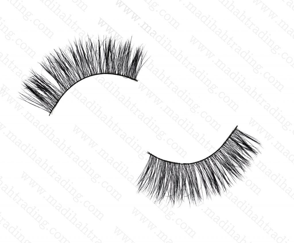 Madihah Trading 15mm cruelty free horse tail eyelashesYX21 mink lashes manufacturer in china.
