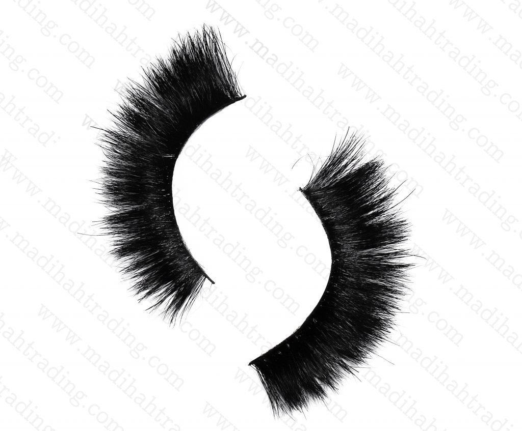 Madihah Trading 12mm cruelty free horse tail eyelashes YX23 mink lashes manufacturer in china.
