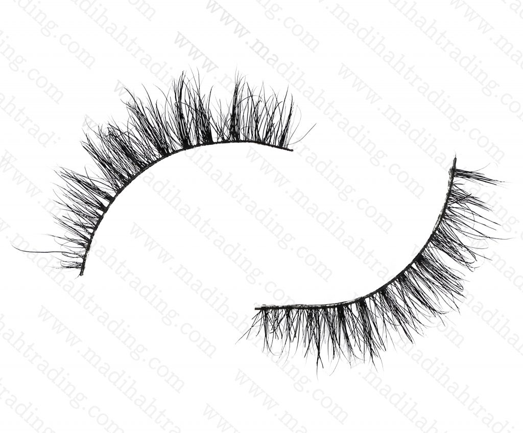 Madihah Trading 8mm cruelty free horse tail eyelashes YX25 mink lashes manufacturer in china.