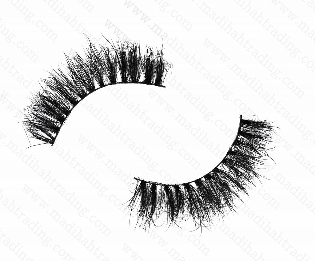 Madihah Trading 12mm cruelty free horse tail eyelashes YX28 mink lashes manufacturer in china.