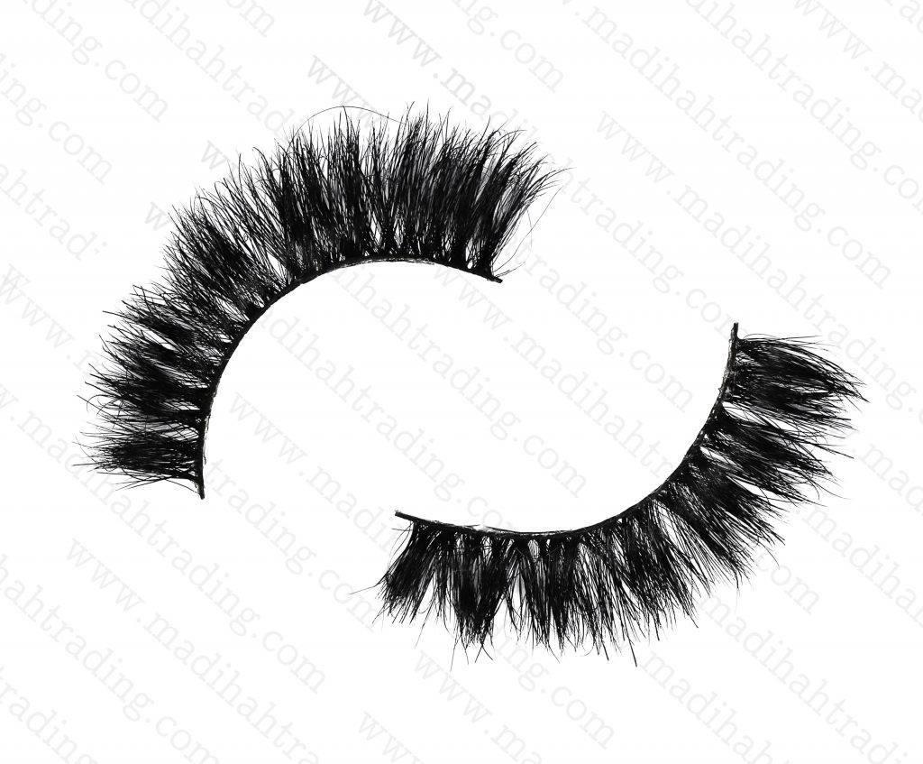 Madihah Trading 11mm cruelty free horse tail eyelashes YX29 mink fur eyelashes wholesale distributor china.