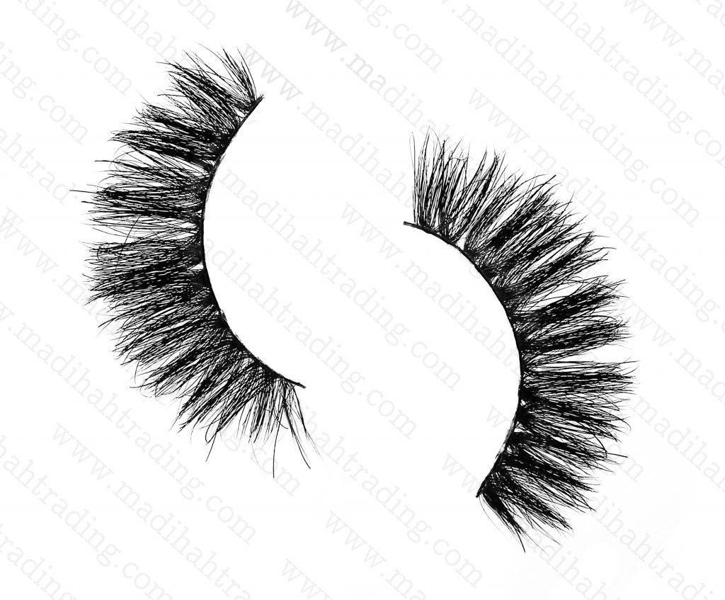 Madihah Trading 11mm cruelty free horse tail eyelashesYX30 mink fur eyelashes wholesale distributor china.