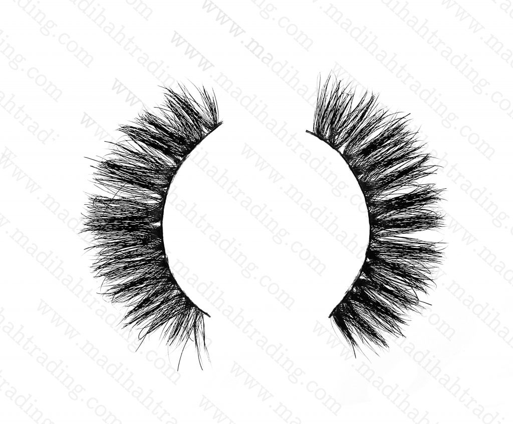Madihah 3d mink lashes beauty supply the horse hair lashes wholesale in china.