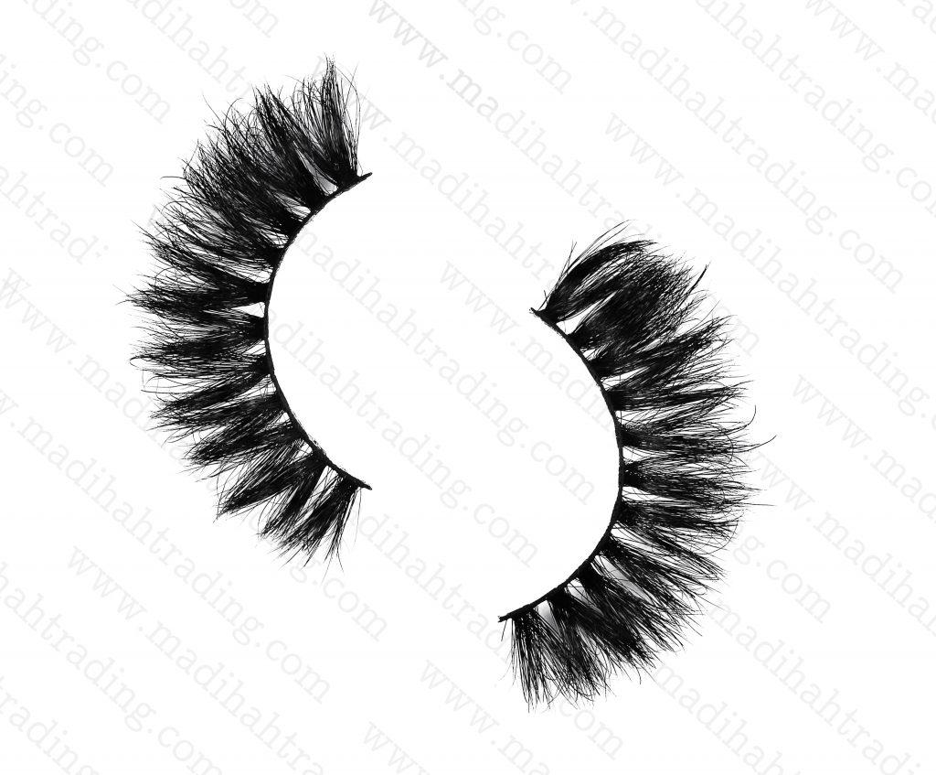 Madihah Trading 15mm cruelty free horse tail eyelashesYX31 mink fur eyelashes wholesale distributor china.