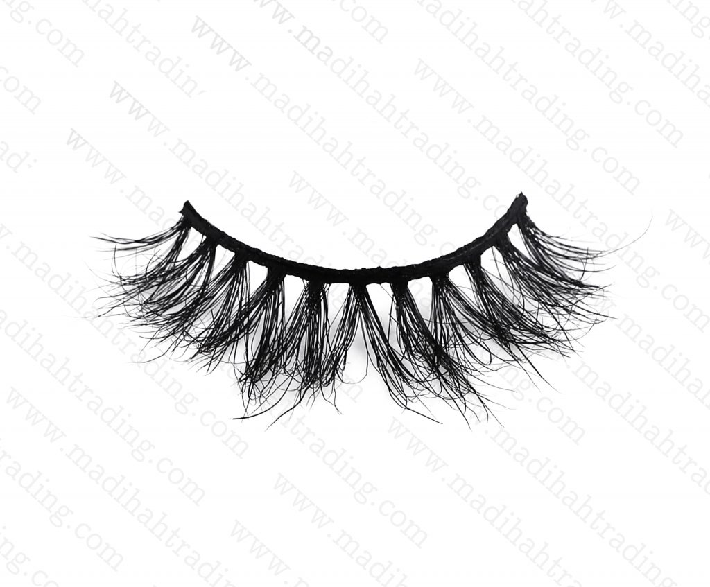 Madihah real mink fur eyelashes wholesale distributor china.