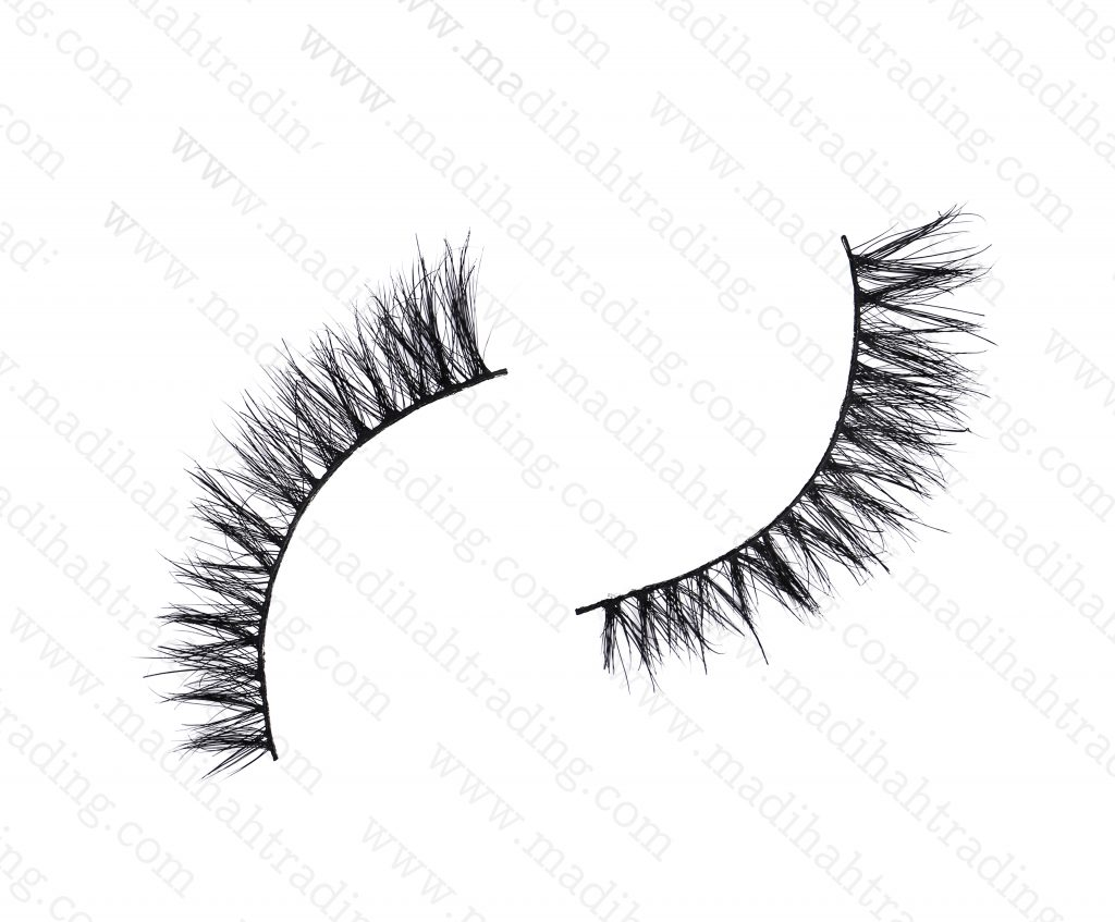 Madihah Trading 9mm 3d mink eyelashes amazon yx06 provide the real mink lashes strip.