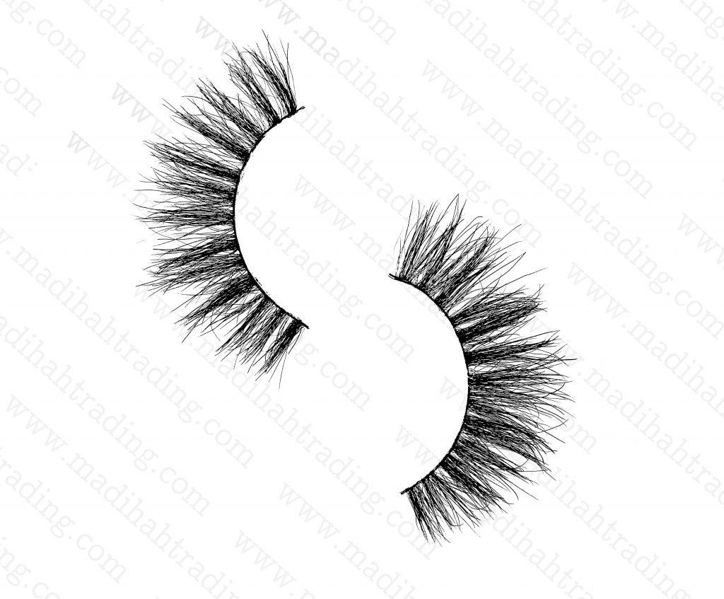 Madihah Trading 13mm3d mink eyelashes amazonyx08 provide thereal mink lashes strip.