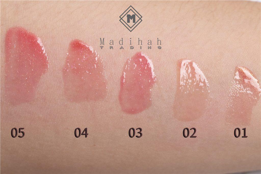 Madihah Glossy Lip Gloss Swatches