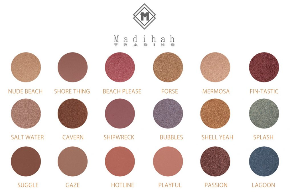 Madihah 18 colors makeup eyeshadow palettes swatches 02