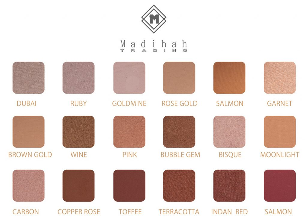Madihah 18 colors makeup eyeshadow palettes swatches 06