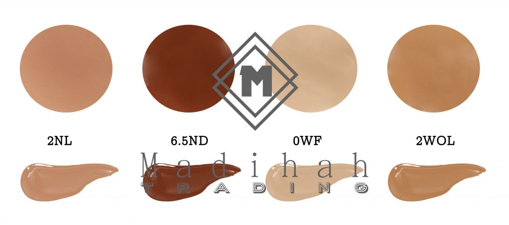 Madihah flawless liquid foundation color swatches