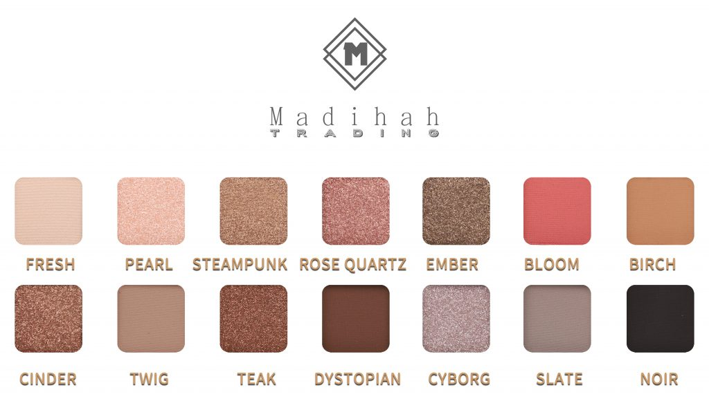 Madihah 14 colors makeup eyeshadow palettes swatches