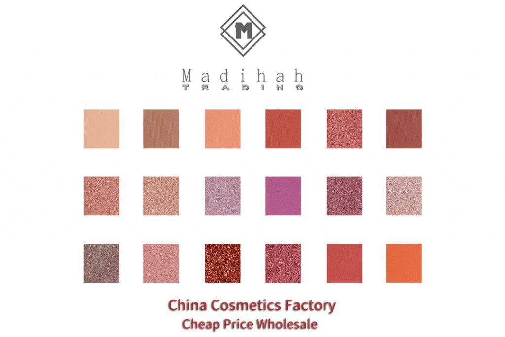 Madihah 18 colors makeup eyeshadow palettes swatches 09