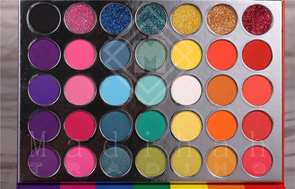 35 colors makeup eyeshadow palettes