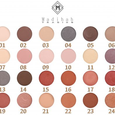 Madihah 24 colors makeup eyeshadow palettes