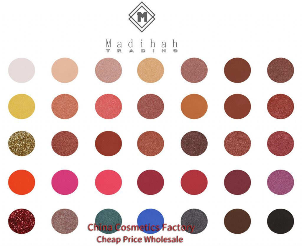 Madihah 35 colors makeup eyeshadow palettes 02 swatches