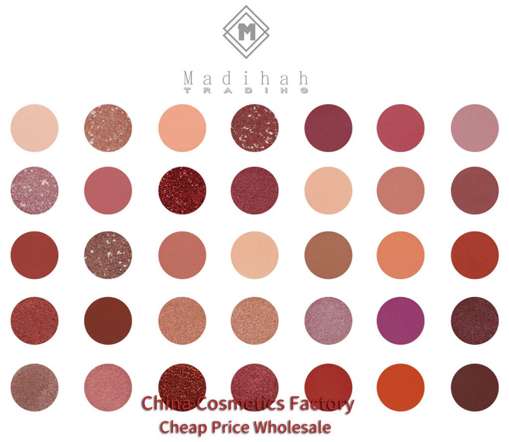 Madihah 35 colors makeup eyeshadow palettes 03 swatches