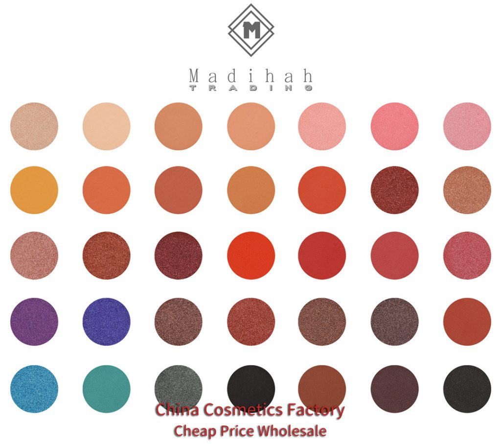 Madihah 35 colors makeup eyeshadow palettes 05 swatches